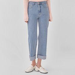 fresh straight denim pants (s m l)