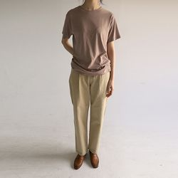 tapered line cotton pants (2colors)