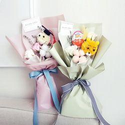 스마일&곰돌이 비누꽃꽃다발
