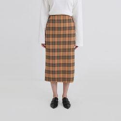viva check banding long skirt (2colors)