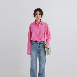 paris color over fit shirt (5colors)