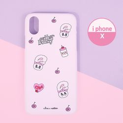 핑크빛 에스더버니 하드 핸드폰케이스 아이폰X CLAB19212ALX