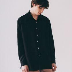 플로잉 오버핏 셔츠 블랙