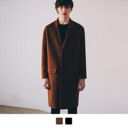 에센셜 핸드메이드 싱글 코트 (2color)