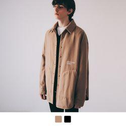 오버핏 자수 패딩 셔츠 자켓 1oz (2color)