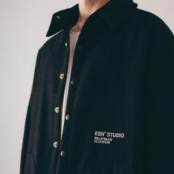 오버핏 자수 패딩 셔츠 자켓 1oz 블랙