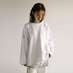 kitsch cut-off sweatshirt (3colors)