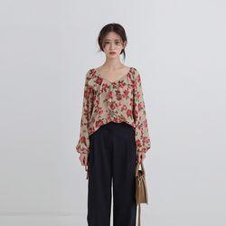 lala frill blouse (2colors)