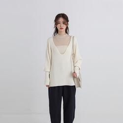 cos wide neck knit (2colors)