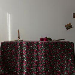 [Fabric] 레트로 로즈 가든 린넨 Retro Rose Garden Linen
