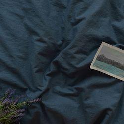 [Fabric] 갤럭시 블루 워싱 린넨 Galaxy Blue Solid Linen