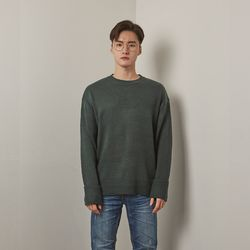 Bt round turnup knit (Khaki)