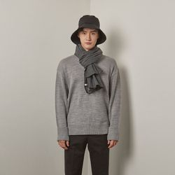 Bt round turnup knit (Grey)