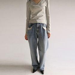 combi pocket denim pants