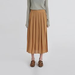mono pleats long skirt (3colors)
