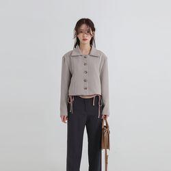 line button short jacket (2colors)