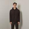 Lot rambswool hoodie knit (Black)