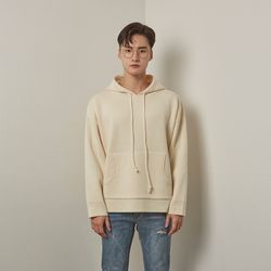 Lot rambswool hoodie knit (Ivory)