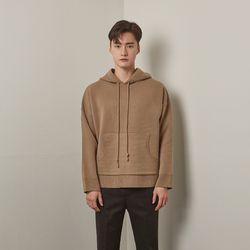 Lot rambwool hoodie knit (Beige)