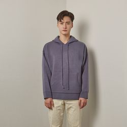 Lot rambswool hoodie knit (Blue)