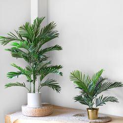 NEW 아레카 야자 인테리어 조화나무60cm+골드화분라인라운드(소)