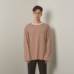 Lts stripe tshirt (Beige-Brown)