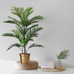NEW 아레카야자인테리어조화나무(100cm)+골드화분라인라운드(대)
