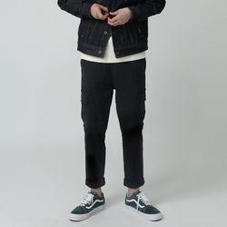카버 4202-앵클 카고(블랙)레귤러핏 팬츠
