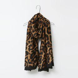 Leopard Black Scarf