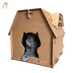 마이펫 고양이 캣 골판지 스크래쳐 하우스