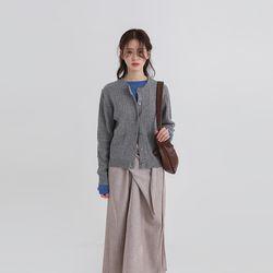 twist round slim cardigan (4colors)