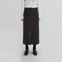 pocket point h-line long skirt (2colors)