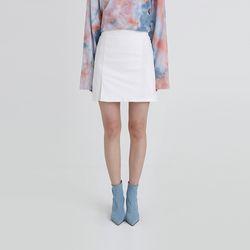 one slit span mini skirt (4colors)