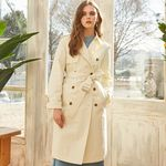 COTTON TRENCH COAT IVORY