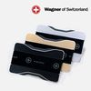 스위스와그너 플렉스 슬림 메탈 지갑(블랙실버골드 옵션 선택형)