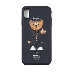 PHONE CASE COMPTON BEAR BLACK iPHONE Xs MAX Xr