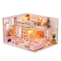 [adico]DIY 미니어처 하우스 - 핑크 드림 하우스