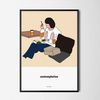 유니크 인테리어 디자인 포스터 M 커피4 카페 A3(중형)