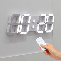 무아스 빅플러스 3D LED 벽시계 화이트