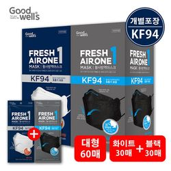 황사 미세먼지 마스크 KF94 혼합60매(대형)