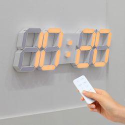무아스 빅플러스 3D LED 벽시계 듀얼