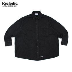 와이드 오버핏 데님셔츠 블랙