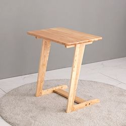 원목 소파 사이드 테이블