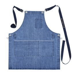 Denim apron Blue lagoon [ARC11603] 청동이름판