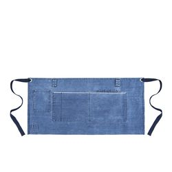 Denim apron Blue lagoon Half [ARC11603H] 실버이름판