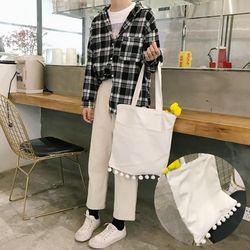 딸랑이 데일리 테슬 에코백 방울 캔버스백 가벼운가방