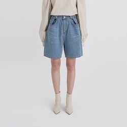 free button half denim jeans (2colors)