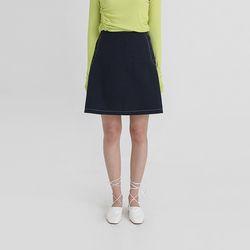 stitch side button a-line mini skirt (2colors)