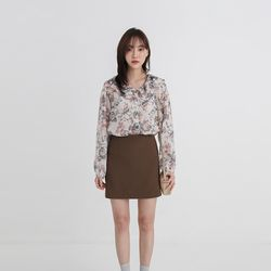 frill collar through flower blouse (3colors)