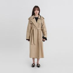 classic double long trench coat (2colors)